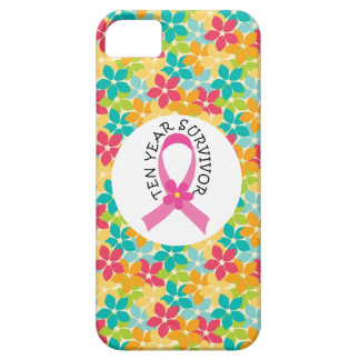 Breast Cancer 10 Year Survivor Pink Ribbon iPhone 5 Cases
