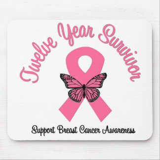Breast Cancer 12 Year Survivor Mouse Pad