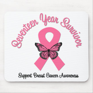 Breast Cancer 17 Year Survivor Mouse Pads