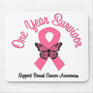 Breast Cancer 1 Year Survivor Mouse Pad