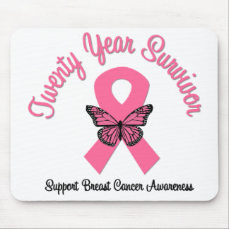 Breast Cancer 20 Year Survivor Mouse Pad