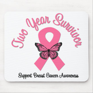 Breast Cancer 2 Year Survivor Mouse Pads