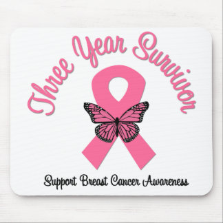 Breast Cancer 3 Year Survivor Mouse Pads