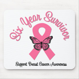Breast Cancer 6 Year Survivor Mouse Mat