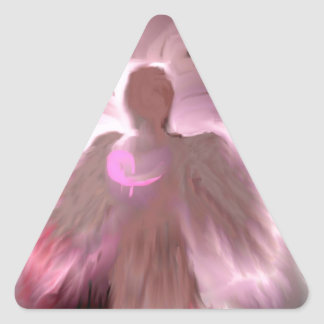 Breast Cancer Angel Triangle Sticker