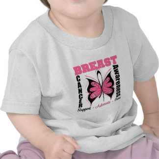 Breast Cancer Awareness Butterfly T Shirts