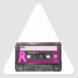 Breast Cancer Awareness Cassette Triangle Sticker