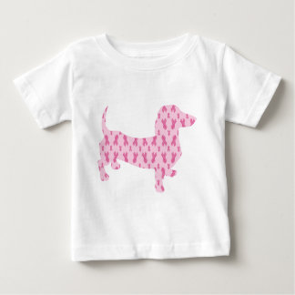 Breast Cancer Awareness Dachshund Baby T-Shirt