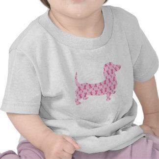 Breast Cancer Awareness Dachshund Tshirt