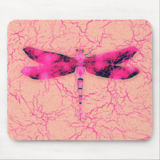 Breast Cancer Awareness Dragonfly Mouse Pad