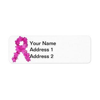 Breast Cancer Awareness Flower Ribbon
