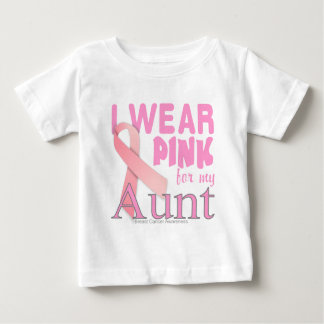Breast Cancer Awareness for Aunt Baby T-Shirt