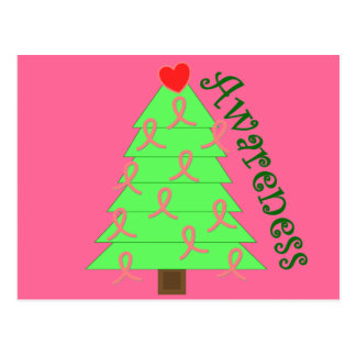 Breast Cancer Awareness Gifts--Unique Tree Postcard