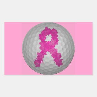 Breast Cancer Awareness Golf Ball Sticker