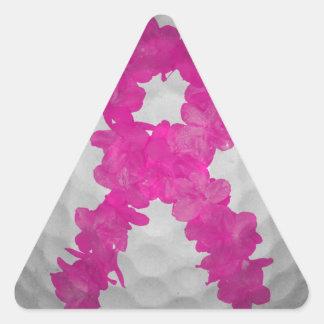 Breast Cancer Awareness Golf Ball Triangle Sticker