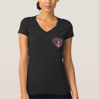 Breast Cancer Awareness Heart Words Tee Shirt