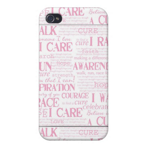 Breast Cancer Awareness Cover For iPhone 4