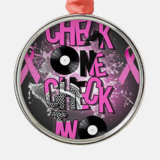 Breast Cancer Awareness Metal Ornament