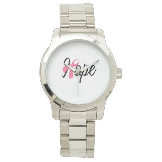 Breast Cancer Awareness Pink Ribbon HOPE Watch