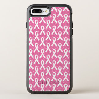 BREAST CANCER AWARENESS  Pink Ribbon Pattern OtterBox Symmetry iPhone 8 Plus/7 Plus Case