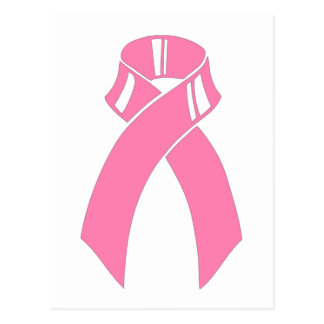 Breast Cancer Awareness pink ribbon Postcard