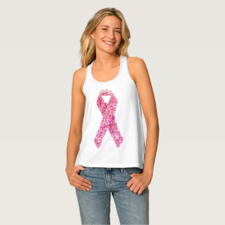 Breast Cancer Awareness Pink Ribbon Racerback Tank