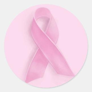 Breast cancer awareness pink ribbon sticker sheet