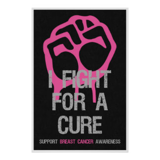 Breast Cancer Awareness Posters Fight For Cure