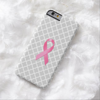 Breast Cancer Awareness Ribbon Grey Clover Barely There iPhone 6 Case