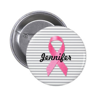 Breast Cancer Awareness Ribbon Personalized 2 Inch Round Button