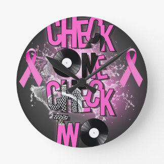 Breast Cancer Awareness Round Clock