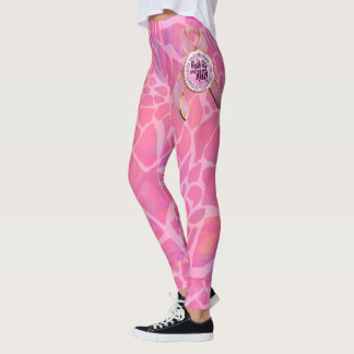 Breast Cancer Awareness Shut Up and Run Leggings
