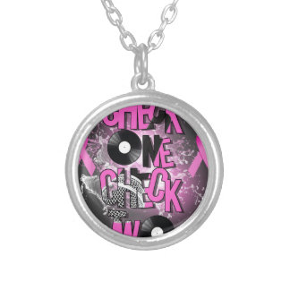 Breast Cancer Awareness Silver Plated Necklace