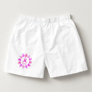Breast cancer awareness support boxers