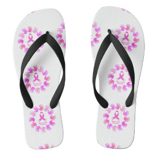 Breast cancer awareness support flip flops