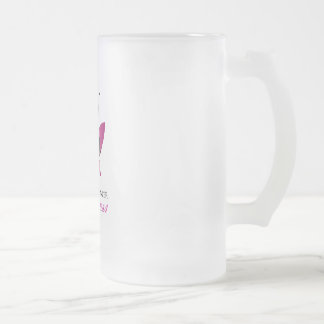 Breast cancer awareness support frosted glass beer mug