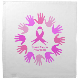 Breast cancer awareness support napkin