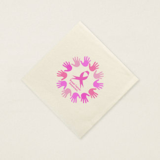 Breast cancer awareness support paper napkin