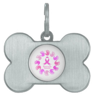 Breast cancer awareness support pet tag