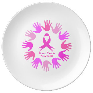 Breast cancer awareness support plate
