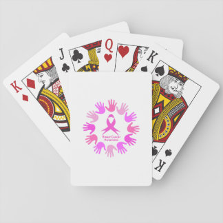 Breast cancer awareness support playing cards