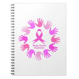 Breast cancer awareness support spiral notebook