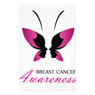 Breast cancer awareness support stationery