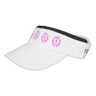 Breast cancer awareness support visor