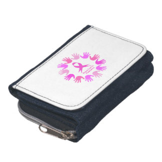 Breast cancer awareness support wallets