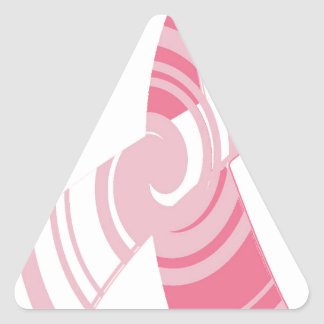 Breast Cancer Awareness Triangle Sticker