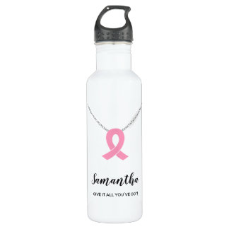 Breast Cancer Awareness Water Bottle, Customizable 710 Ml Water Bottle