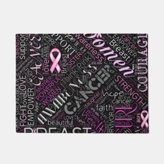 Breast Cancer Awareness Word Cloud ID261 Doormat