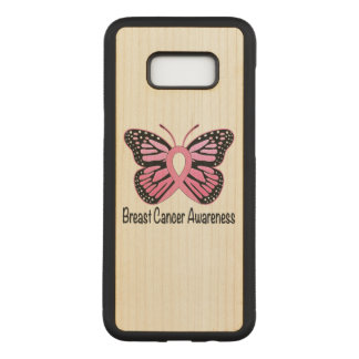 Breast Cancer Butterfly Ribbon of Hope Carved Samsung Galaxy S8+ Case