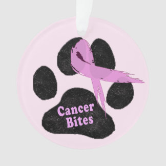 Breast Cancer   Cancer Bites   Pink Ribbon   Paw Ornament